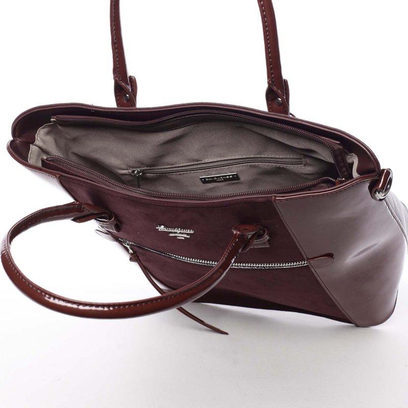 Noblesní dámská kabelka Viktorie, vínově červená