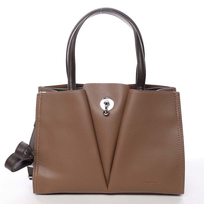 Nadčasová dámská kabelka Natálie, hnědá