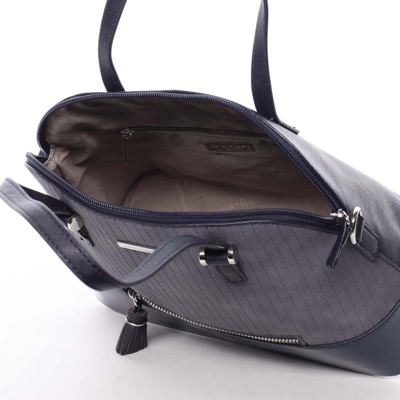 Semišová dámská kabelka Adelaide, modrá
