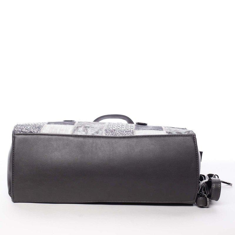 Luxusně prošívaná dámská kabelka Sevilla, šedá