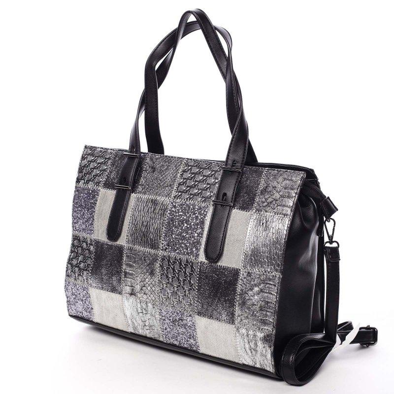 Luxusně prošívaná dámská kabelka Sevilla, černá