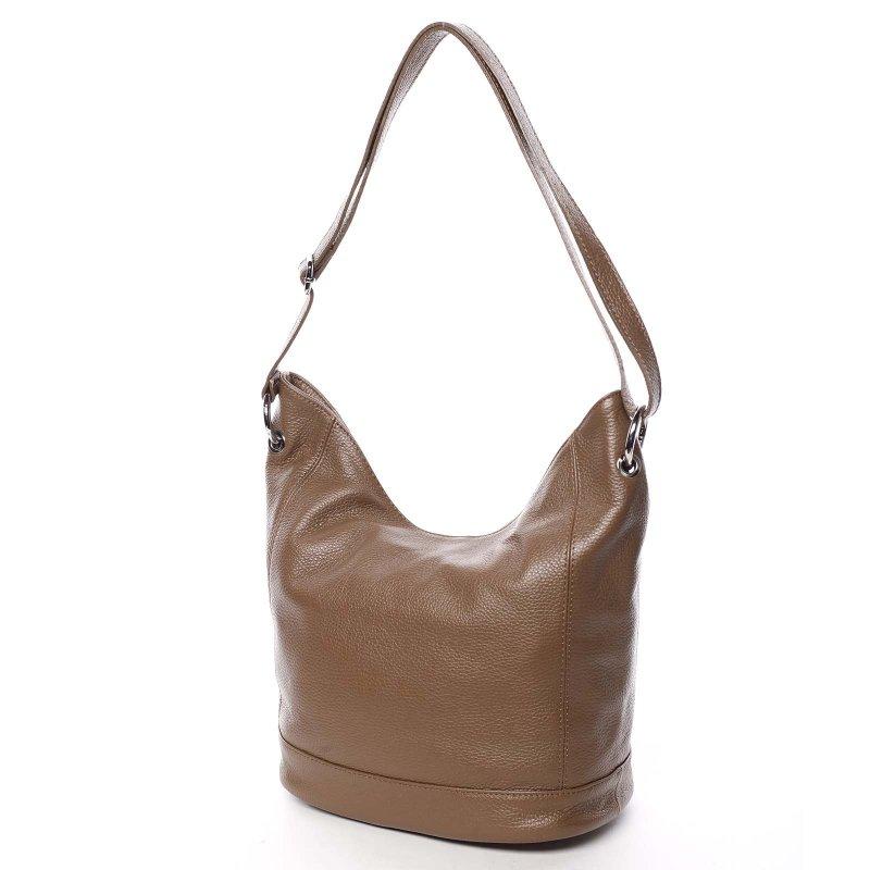 Kožená dámská kabelka Santal, hnědá