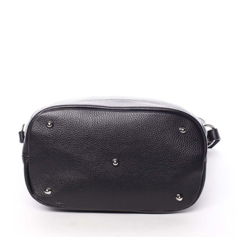 Kožená dámská kabelka Santal, černá