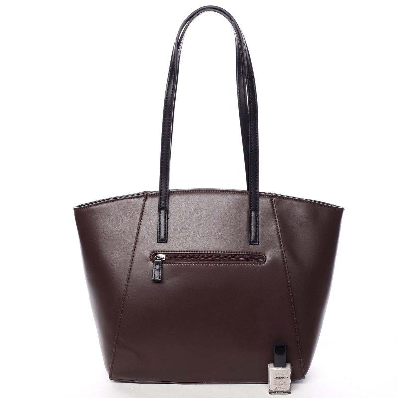 Luxusní kabelka s dlouhým uchem Aurelie, vínově červená