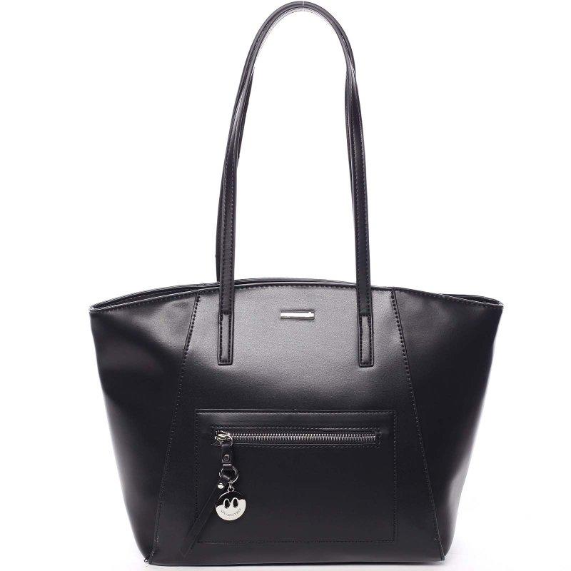Luxusní kabelka s dlouhým uchem Aurelie, černá