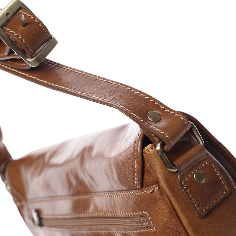 Pánská kožená taška Marco, koňakově hnědá