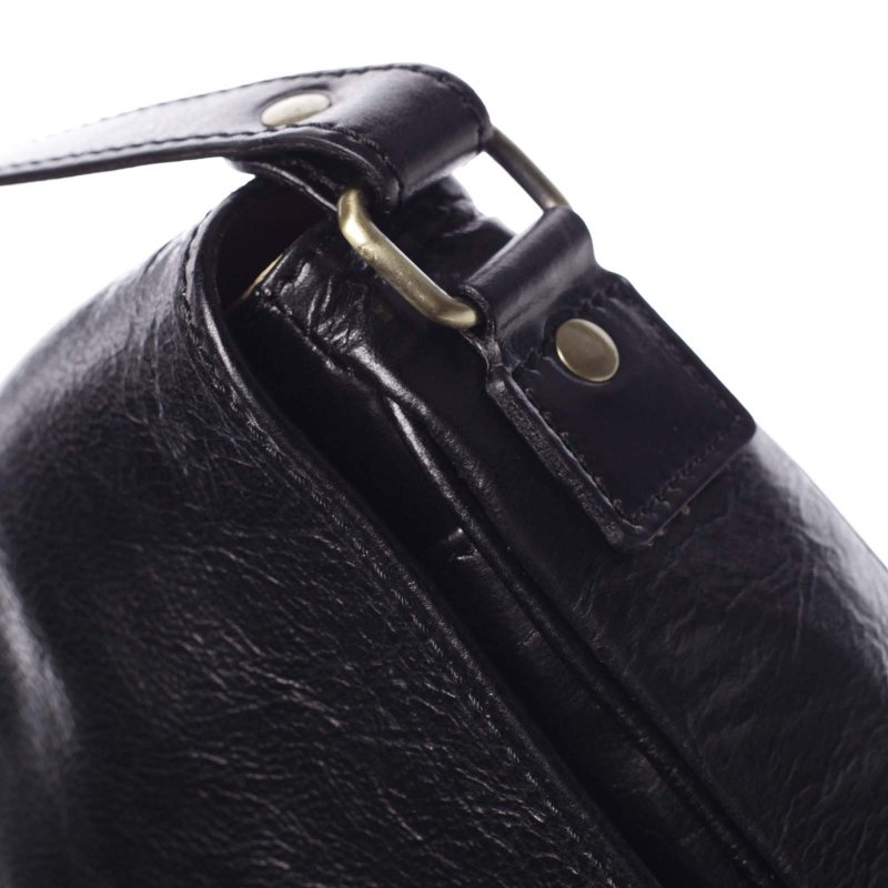 Pánská kožená taška Marco, černá