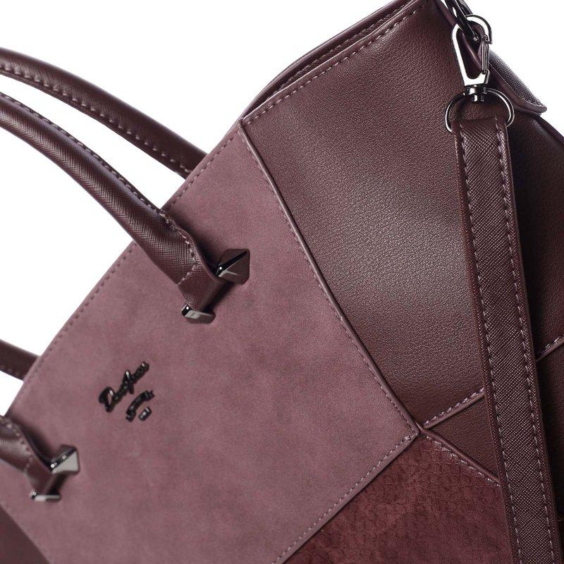 Jedinečná dámská kabelka do ruky Vanessa, vínově červená