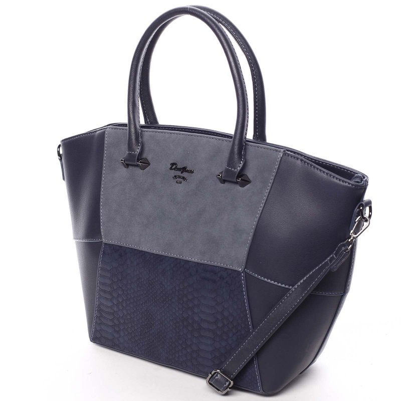 Jedinečná dámská kabelka do ruky Vanessa, modrá