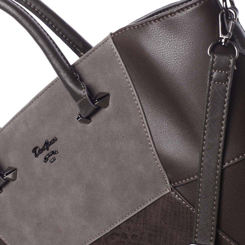 Jedinečná dámská kabelka do ruky Vanessa, hnědá