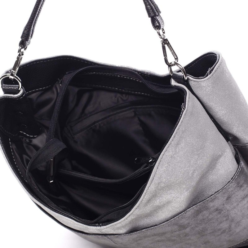 Měkká dámská kabelka Atima, černá