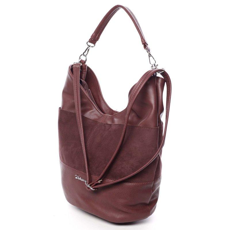 Měkká dámská kabelka Atima, vínová