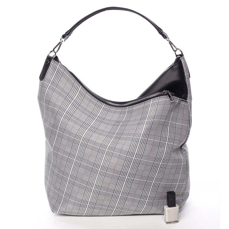 Látková dámská kabelka do ruky Fatima, šedá/černá
