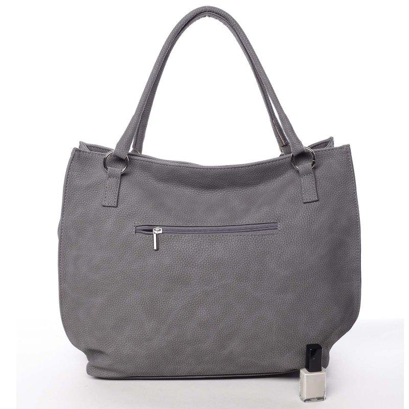 Šedá dámská kabelka do ruky Claudia