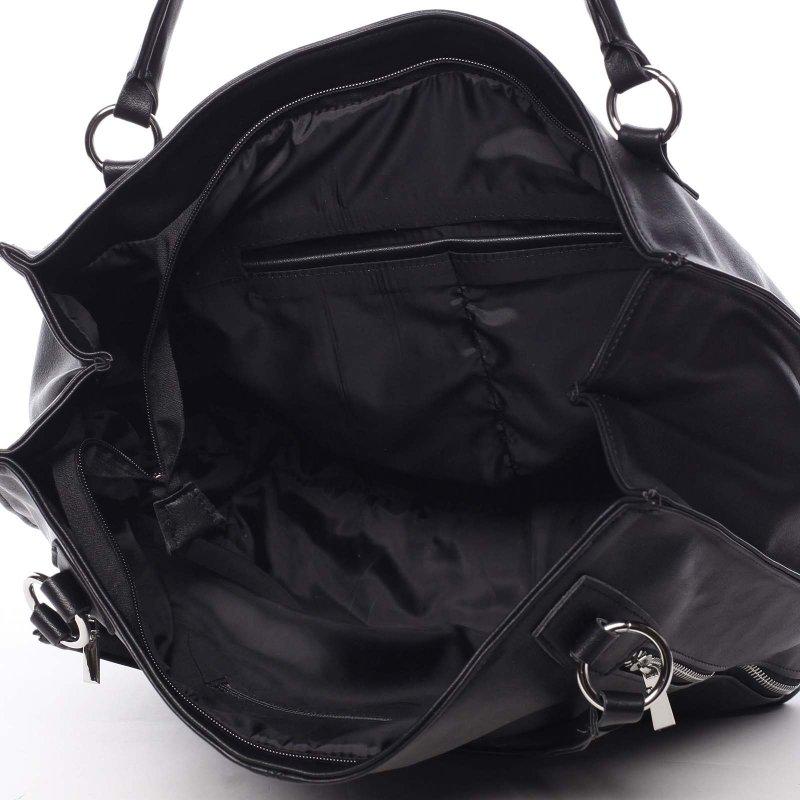 Černá dámská kabelka do ruky Claudia