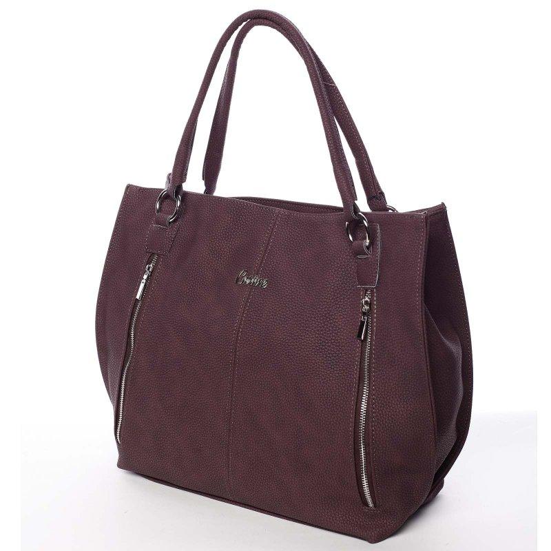 Bordó dámská kabelka do ruky Claudia