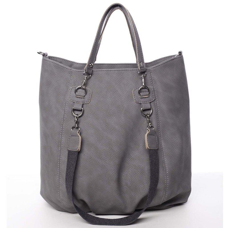 Pohodlná dámská kabelka do ruky Nikoleta, šedá