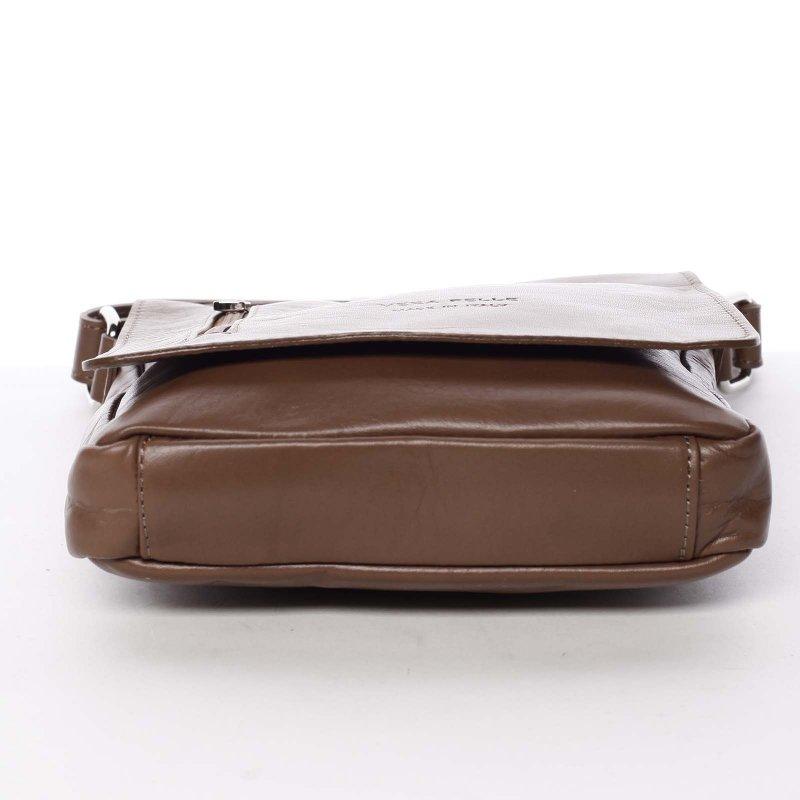 Kožená střední taška Robert, hnědá