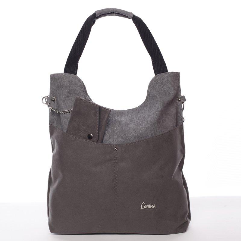Semišová dámská kabelka do ruky Rossen, šedá