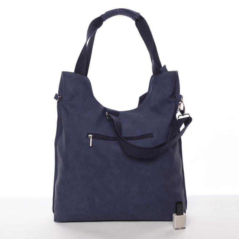 Semišová dámská kabelka do ruky Rossen, modrá