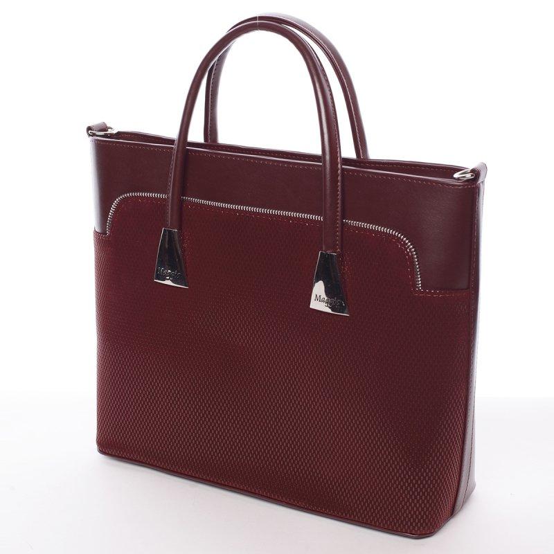 Vzorově elegantní dámská kabelka Abigail, vínově červená