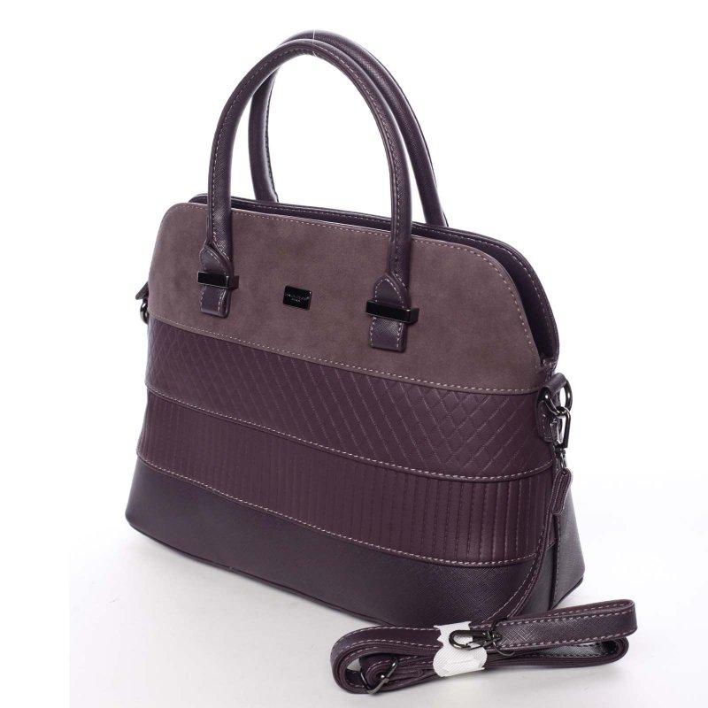 Noblesní dámská kabelka Amalia, fialová