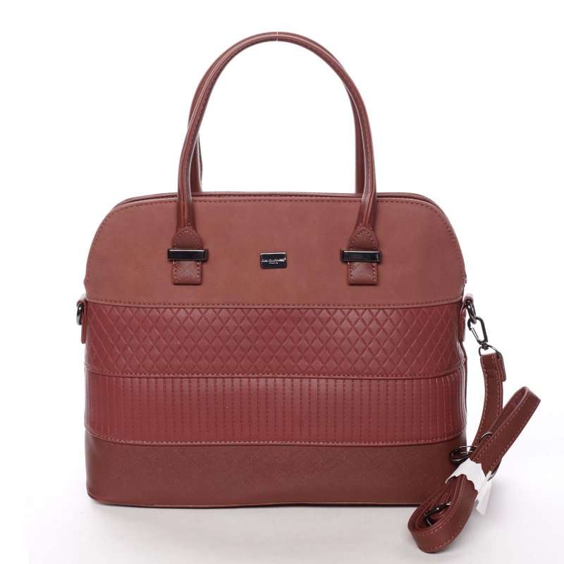 Noblesní dámská kabelka Amalia, červená