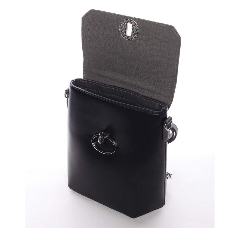 Luxusní dámský batůžek či crossbody Brenda, černý/ šedý