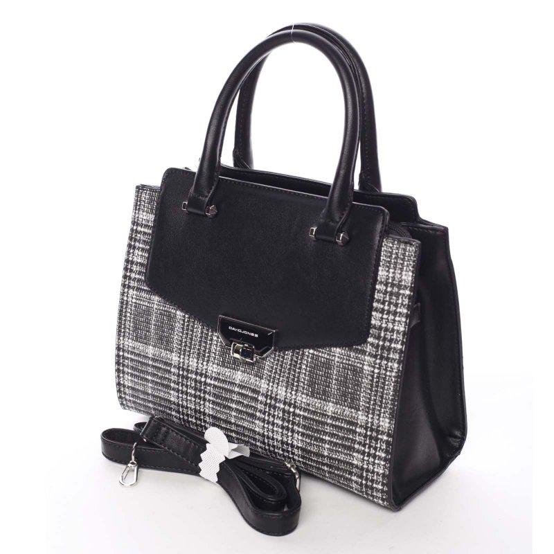 Trendy úpletová dámská kabelka Desiré, černá
