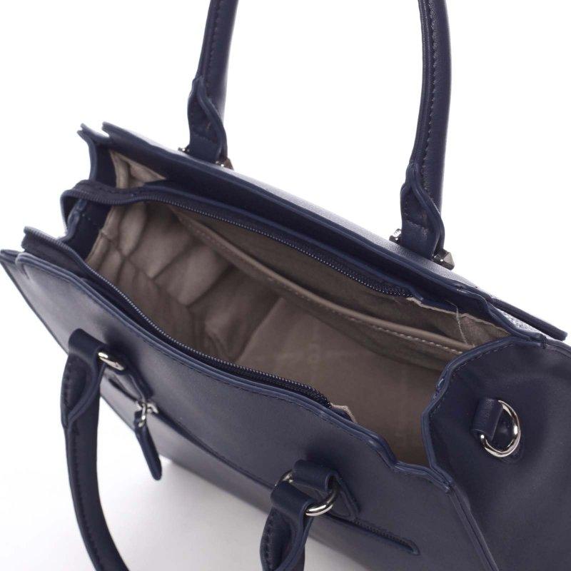 Trendy úpletová dámská kabelka Desiré, modrá