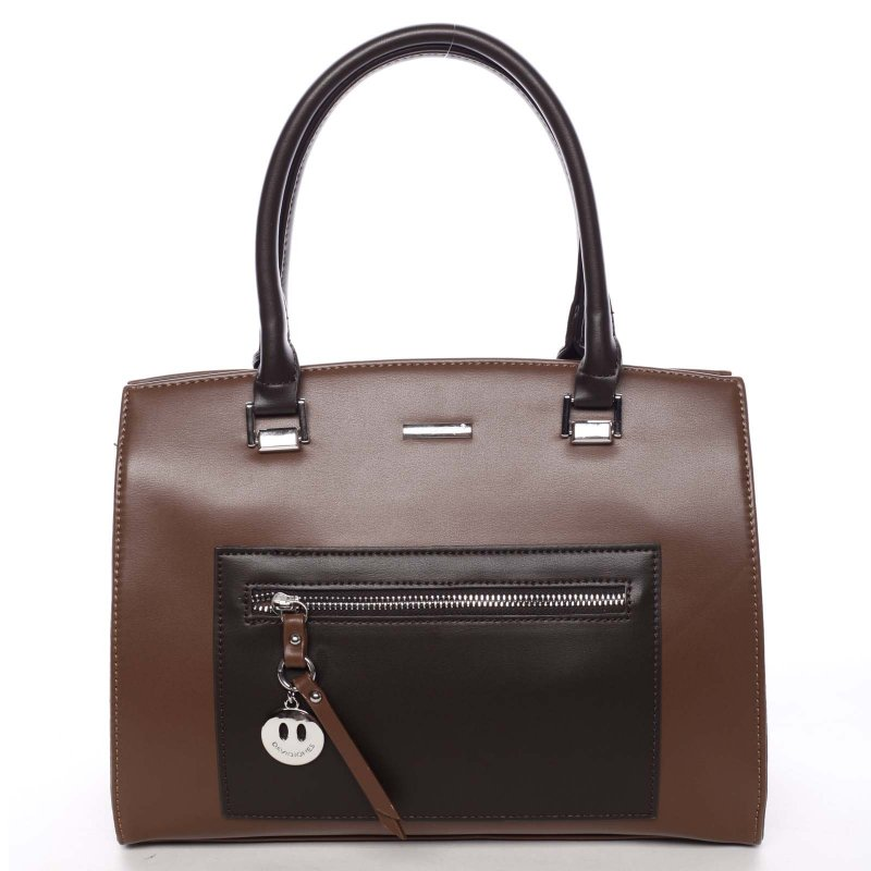 Luxusní dámská kabelka Dafne, hnědá