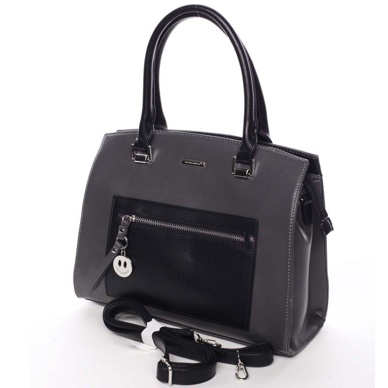 Luxusní dámská kabelka Dafne, šedá