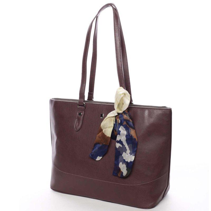 Velká dámská kabelka Diana, vínová