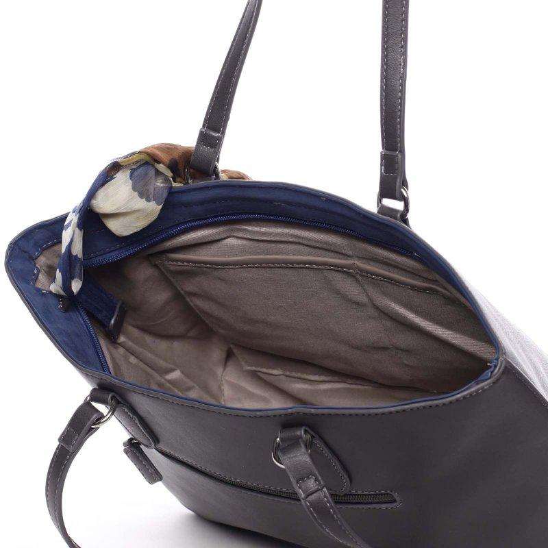 Velká dámská kabelka Diana, šedá