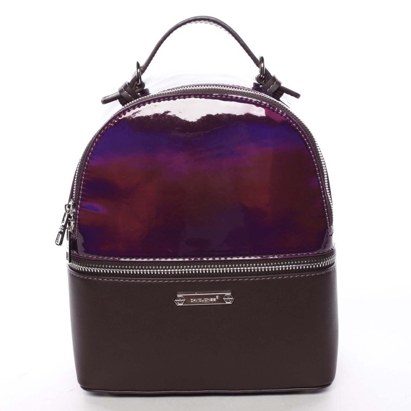 Luxusní dámský batůžek 2v1 Estel, vínově červený