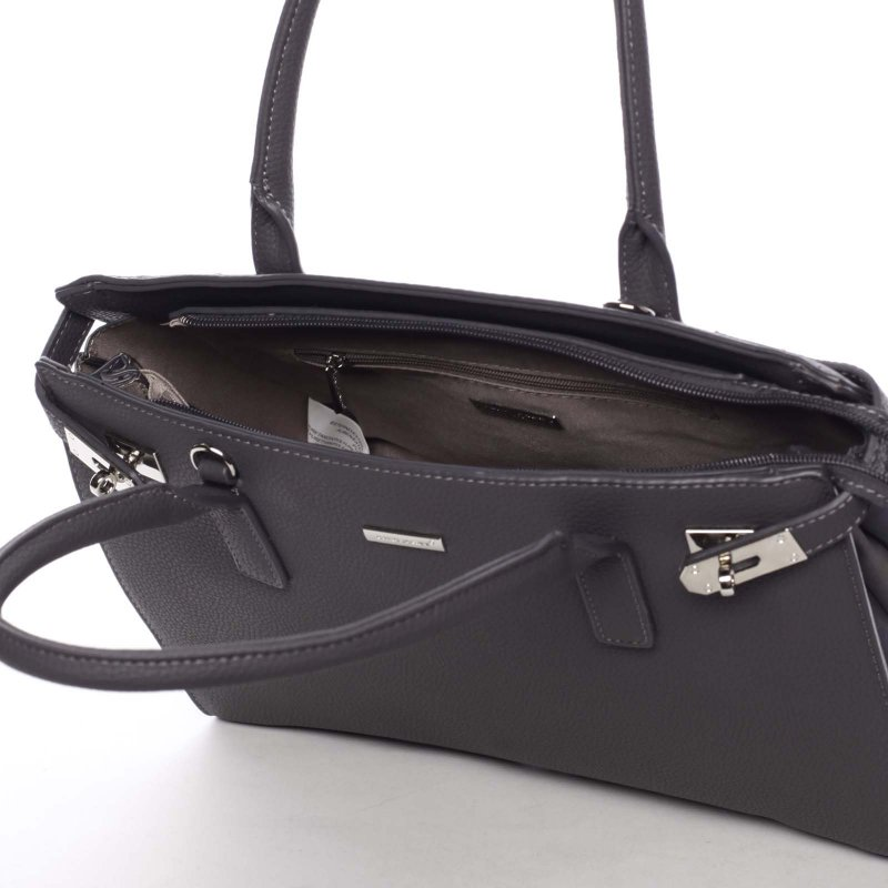 Společenská dámská kabelka Eugenie, šedá