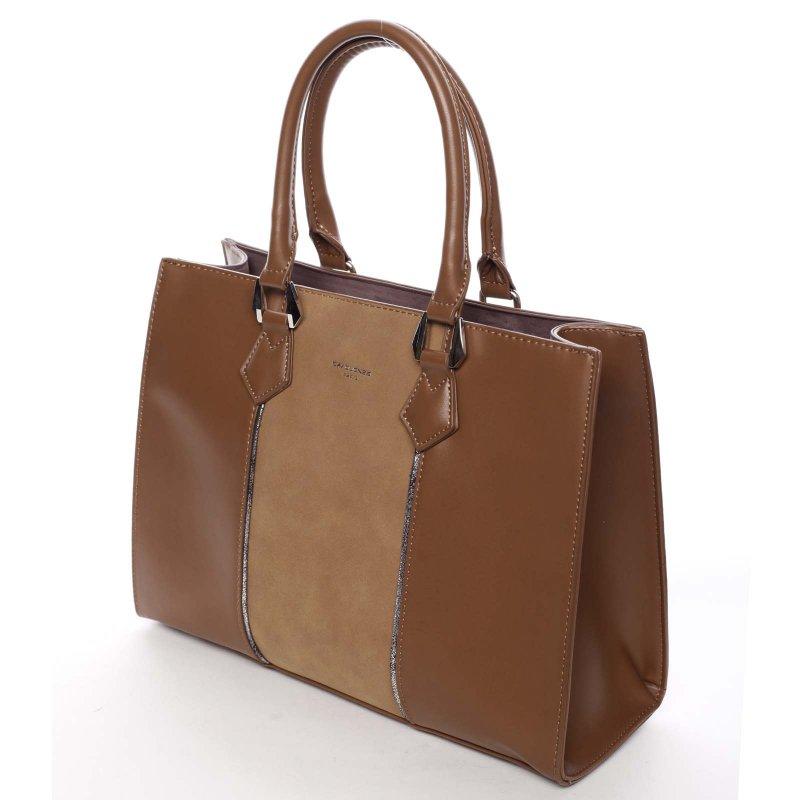 Jedinečná dámská kabelka Brunela, hnědá