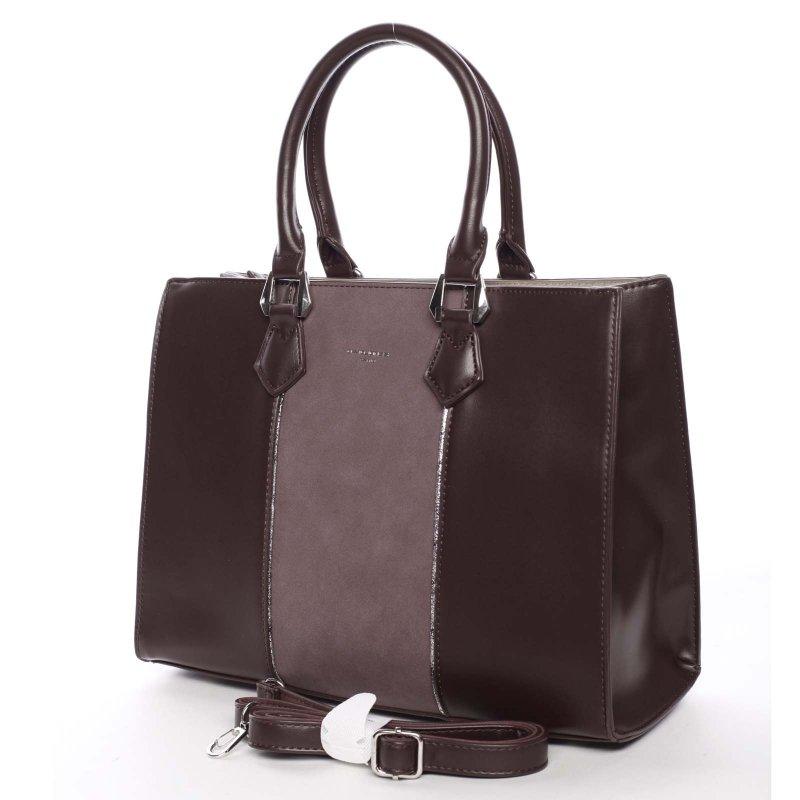 Jedinečná dámská kabelka Brunela, vínově červená