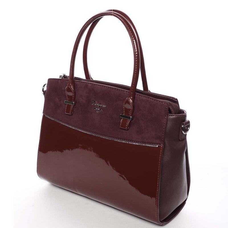 Trendová dámská kabelka do ruky Candela, vínová