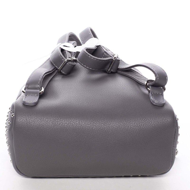 Zdobený dámský batůžek Elis, šedý