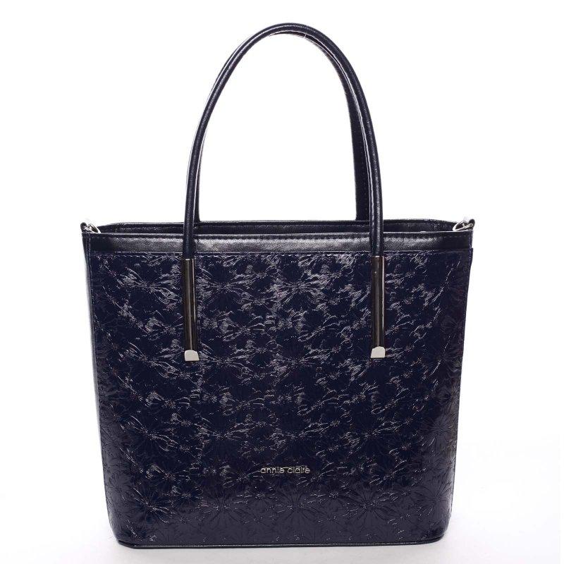 Květovaná dámská kabelka přes rameno Anna, modrá
