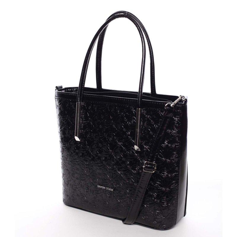 Květovaná dámská kabelka přes rameno Anna, černá