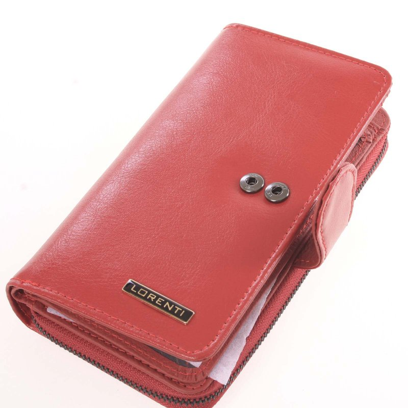 Luxusní kožená peněženka Petra, červená