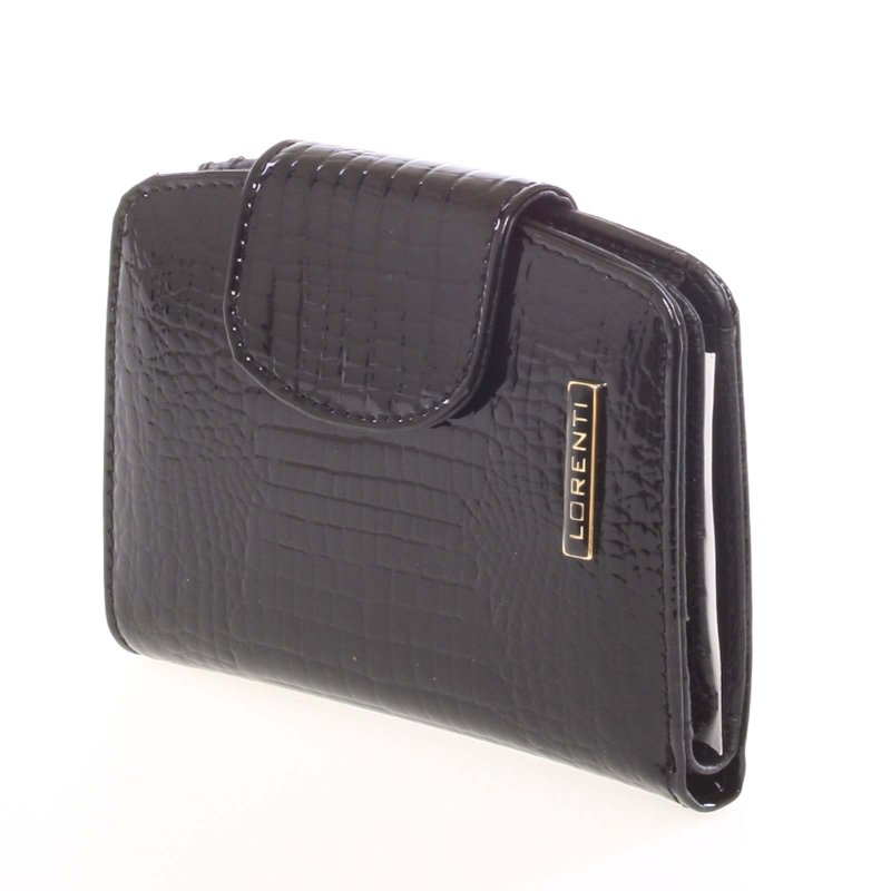 Dámská kožená peněženka 6IX9INE, croco černá