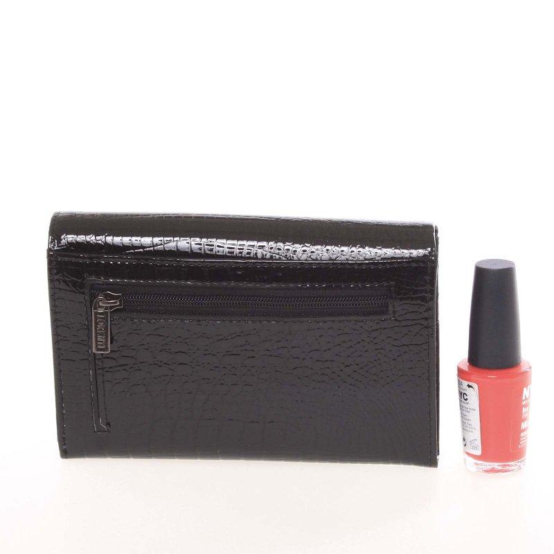 Kožená dámská peněženka Supar, croco černá