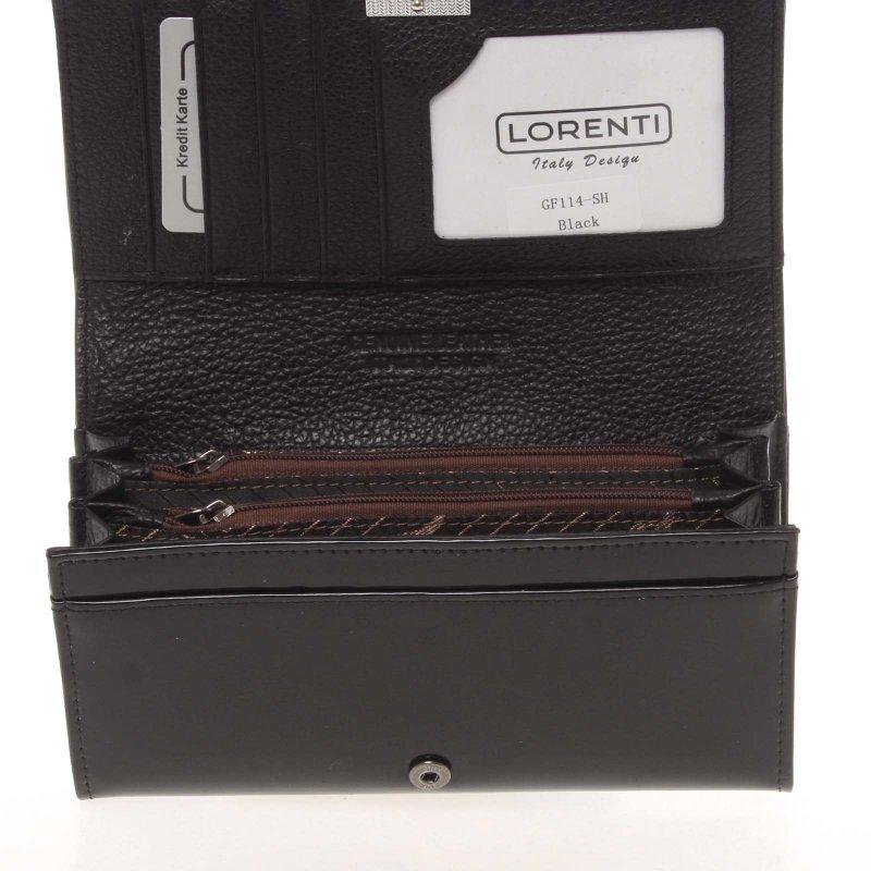 Originální dámská kožená peněženka Lorenti Spice, černá