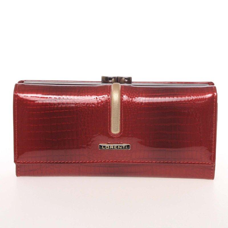 Exluzivní dámská kožená peněženka Du Hoc, červená