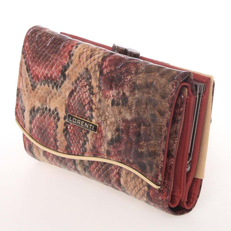 Originální dámská kožená peněženka s hadím vzorem Lorenti Premium