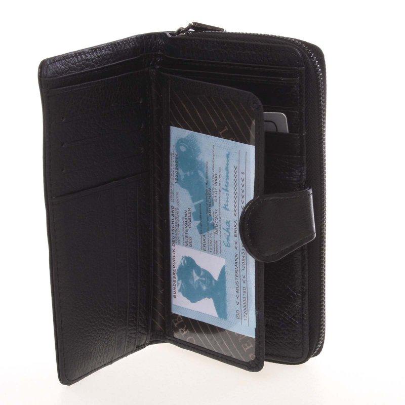 Luxusní kožená peněženka Petra, černá