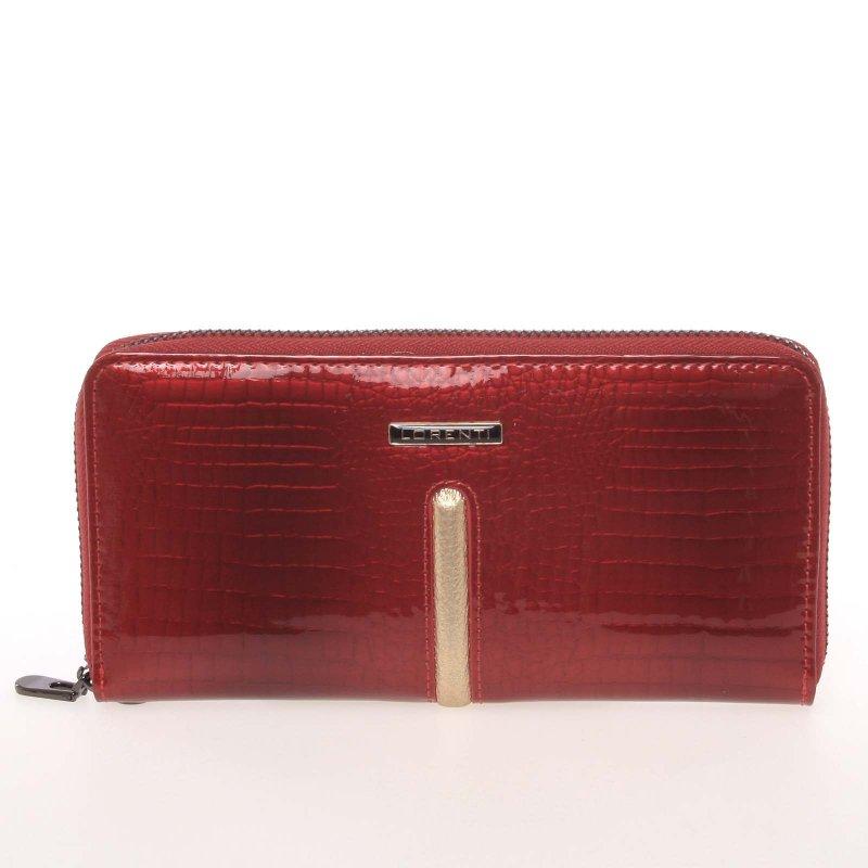 Lakovaná dámská kožená peněženka Gold Ore, červená